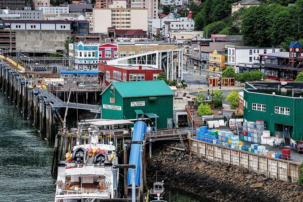 Downtown Juneau, Alaska, USA.