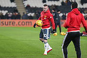 Wayne Rooney Forward of Manchester United in warm up during the EFL Cup semi final match 2 between Hull City and Manchester United at the KCOM Stadium, Kingston upon Hull, England on 26 January 2017. Photo by Phil Duncan.