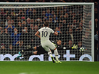 Football - 2019 / 2020 UEFA Champions League - Group B: Tottenham Hotspur vs. Bayern Munich<br /> <br /> Harry Kane Scores goal no 2 for Spurs from the penalty spot past goalkeeper Manuel Neuer, at The Tottenham Hotspur Stadium.<br /> <br /> COLORSPORT/ANDREW COWIE