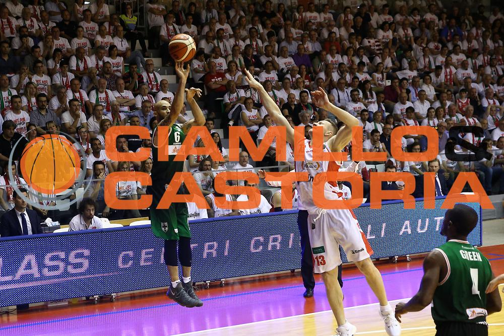 David Logan<br /> GrissinBon Reggio Emilia vs Sidigas Avellino<br /> Lega Basket Serie A 2016/2017<br /> Play Off Quarti di Finale Gara 3<br /> REggio Emilia,17/05/2017<br /> Foto Ciamillo-Castoria/A. Gilardi