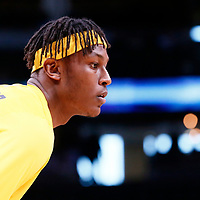 03 April 2018: Indiana Pacers center Myles Turner (33) warms up prior to the Denver Nuggets 107-104 victory over the Indiana Pacers, at the Pepsi Center, Denver, Colorado, USA.