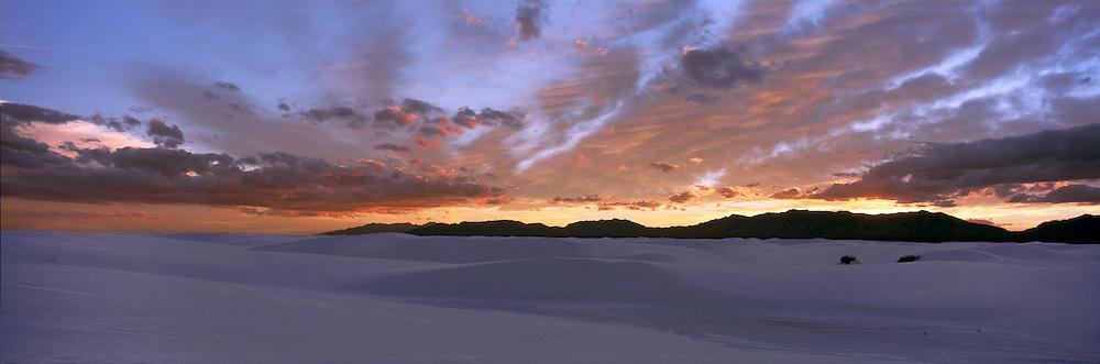White Sand Dunes Sunset