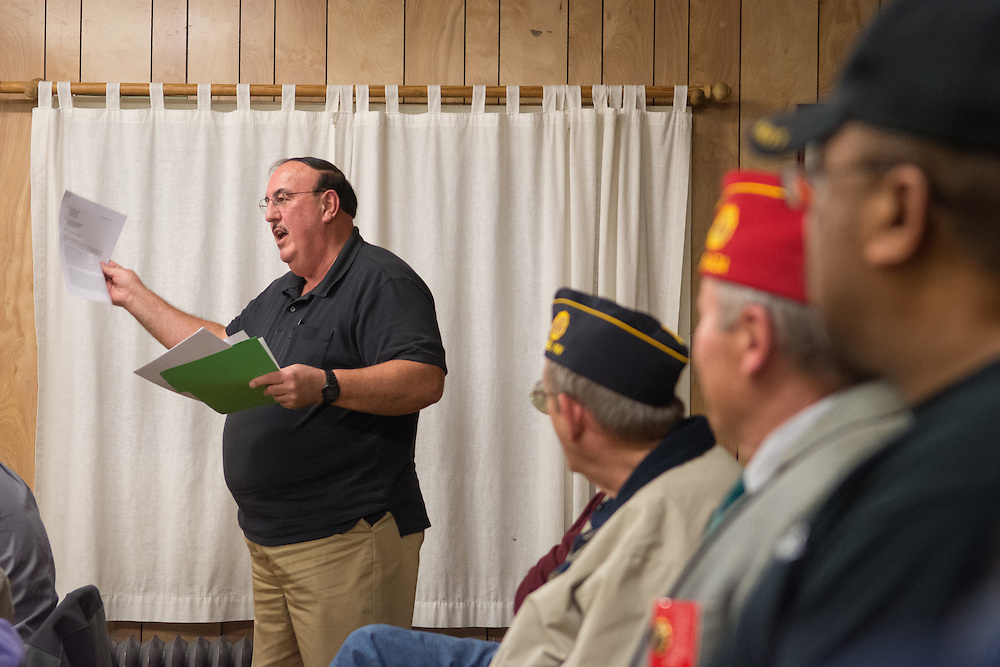 David Meeker of American Legion Post 1 in Reno, Nev. speaks at a System Worth Saving town hall on Tuesday, March 8, 2016. Photo by David Calvert /The American Legion.