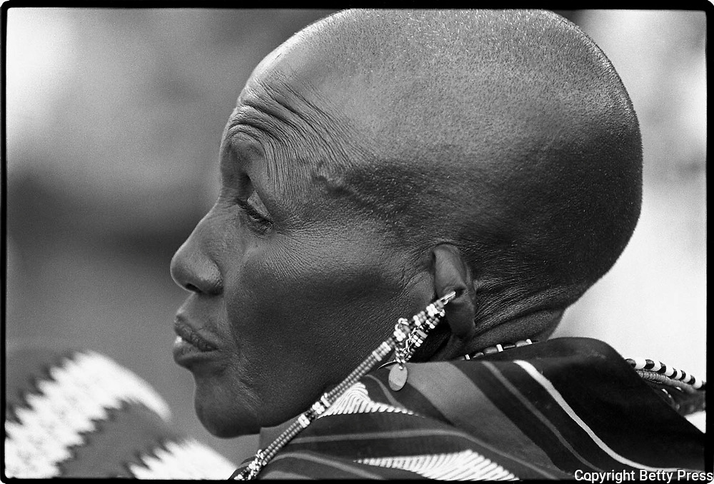 Life is a gift of nature but beautiful living is a gift of wisdom.  Malawian proverb<br /> <br /> A Maasai elder respected for wisdom and for mediation skills. Southern Kenya  1995