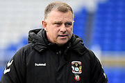 Coventry City manager Mark Robins during the EFL Sky Bet League 1 match between Coventry City and Rochdale at the Trillion Trophy Stadium, Birmingham, England on 16 November 2019.