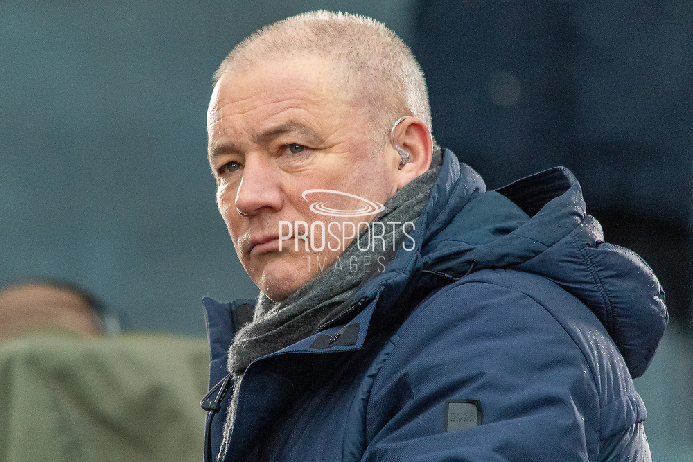 Rangers Legend Ally McCoist casts his eye towards the Hampden Park Turf ahead of the Betfred Scottish League Cup Final match between Rangers and Celtic at Hampden Park, Glasgow, United Kingdom on 8 December 2019.