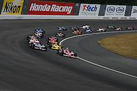 Scott Dixon leads the start of the Bridgestone Indy 300 Japan, Motegi, Japan