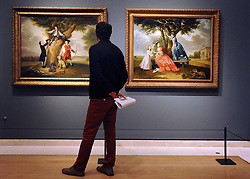 © Licensed to London News Pictures. 06/03/2012. London, UK. Photo call for Johann Zoffany's portraits of George III and Queen Charlotte ahead of Johann Zoffany RA: Society Observed. The exhibition runs at the Royal Academy of Arts from March 10 to June 10 in Piccadilly, London. Photo credit : Photographer Stephen SImpson/LNP