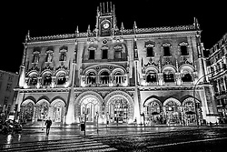 Rossio train station, Lisbon, Portugal