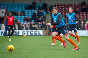Scunthorpe United defender Murray Wallace (5) warms up for the EFL Sky Bet League 1 match between Scunthorpe United and Rotherham United at Glanford Park, Scunthorpe, England on 10 February 2018. Picture by Craig Zadoroznyj.