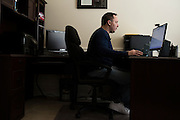 Reality Steve aka Steve Carbone blogs about reality shows full time at his home office in Frisco, Texas on December 21, 2015. (Cooper Neill for The New York Times)