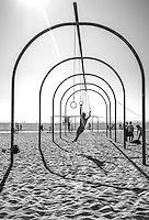 Traveling Rings, Santa Monica Beach, Los Angeles