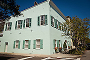 Historic home on Rainbow Row in Charleston, SC.