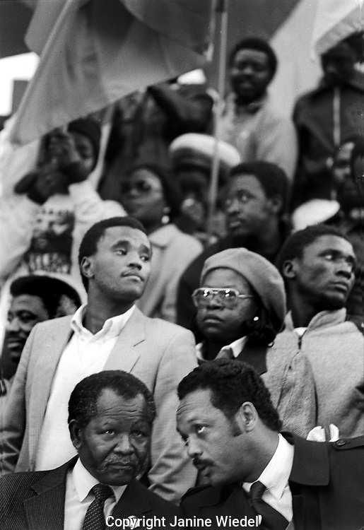 Largest Anti Apartheid and free Mandela Rally in Trafalgar Square Nov 1st 1985, at least 35,000 people took part