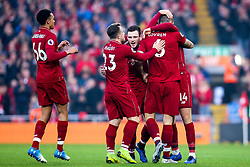 Dejan Lovren of Liverpool celebrates with teammates after scoring a goal to make it 1-0 - Mandatory by-line: Robbie Stephenson/JMP - 26/12/2018 - FOOTBALL - Anfield - Liverpool, England - Liverpool v Newcastle United - Premier League