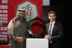 February 23, 2019 - Abu Dhabi - Foto LaPresse - Fabio Ferrari.23 Febbraio 2019 Abu Dhabi (Emirati Arabi Uniti).Sport Ciclismo.UAE Tour 2019 - Conferenza Tor Riders.Nella foto: ..Photo LaPresse - Fabio Ferrari.February 23, 2019 Abu Dhabi (United Arab Emirates) .Sport Cycling.UAE Tour 2018 - Top rider press conference.In the pic: (Credit Image: © Fabio Ferrari/Lapresse via ZUMA Press)