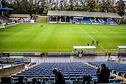 during the The FA Cup match between FC Halifax Town and Wycombe Wanderers at the Shay, Halifax, United Kingdom on 8 November 2015. Photo by Simon Davies.