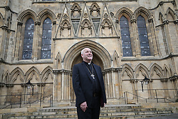 © Licensed to London News Pictures. 17/12/2019. London, UK. Stephen Cottrell poses for pictures after being unveiled as the new 98th Archbishop of York at York Minster, Britain on 17th December 2019. Photo credit: Nigel Roddis/LNP