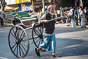 Rickshaw puller in Kolkata (India)