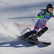 Winter Olympics, Vancouver, 2010.Elisabeth Goergl, Austria,  in action in the Alpine Skiing Ladies Super Combined competition at Whistler Creekside, Whistler, during the Vancouver Winter Olympics. 18th February 2010. Photo Tim Clayton