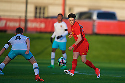 KIRKBY, ENGLAND - Friday, March 31, 2017: Liverpool's Curtis Jones in action against West Ham United during an Under-18 FA Premier League Merit Group A match at the Kirkby Academy. (Pic by David Rawcliffe/Propaganda)