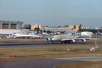 British Airways Concorde and ETIHAD Airbus A380, London Heathrow Airport, London, UK, 14 September 2019, Photo by Richard Goldschmidt
