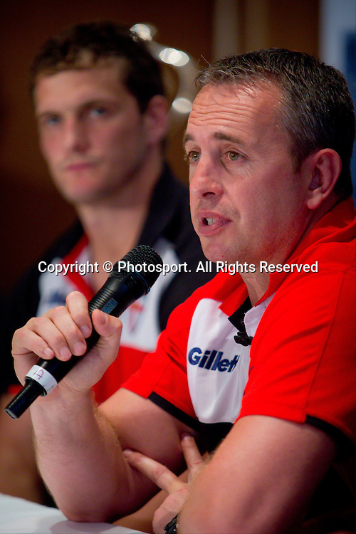 England coach Steve McNamara during a preview 4 Nations press conference, Brisbane Australia on October 24, 2014.