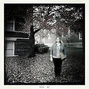 Meg Vogel stands underneath a tree outside of Ellis Hall, Tuesday, November 13, 2012.