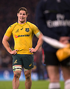 Twickenham, Surrey. UK. AUS captian, Micheal HOOPER, looks. perhaps Disbelievingly at the linesman, during the   during the <br /> England VS Australia, Autumn International. Old Mutual Wealth Series. RFU Stadium, Twickenham. UK<br /> <br /> Saturday  18.11.17<br /> <br /> [Mandatory Credit Peter SPURRIER/Intersport Images]