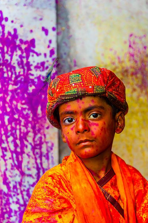 Holi Festival, near Mathura, Uttar Pradesh, India.
