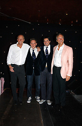 Left to right, DAVID FORBES, HARRY BECHER, EDWARD TAYLOR and CHARLES DELEVINGNE hosts of the evening at The Christmas Cracker - an evening i aid of the Starlight Children's Charity held at Frankies, Knightsbridge on 13th December 2006.<br />