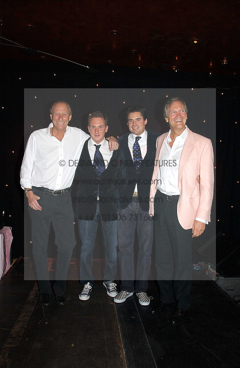 Left to right, DAVID FORBES, HARRY BECHER, EDWARD TAYLOR and CHARLES DELEVINGNE hosts of the evening at The Christmas Cracker - an evening i aid of the Starlight Children's Charity held at Frankies, Knightsbridge on 13th December 2006.<br /><br />NON EXCLUSIVE - WORLD RIGHTS