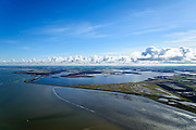 Nederland, Friesland, Gemeente Dongeradeel, 28-02-2016; zicht op de voormalige Lauwerszee, nu Lauwersmeer ter hoogte van Paesens-Moddergat.<br /> <br /> View of the former Lauwers sea, now Lauwersmeer (lake).<br /> <br /> luchtfoto (toeslag op standard tarieven);<br /> aerial photo (additional fee required);<br /> copyright foto/photo Siebe Swart