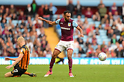 Aston Villa Aston Villa defender Ahmed Elmohamady (27) looks to release the ball during the EFL Sky Bet Championship match between Aston Villa and Hull City at Villa Park, Birmingham, England on 5 August 2017. Photo by Dennis Goodwin.
