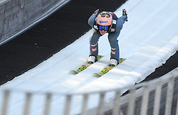 March 22, 2019 - Planica, Slovenia - Srefan Kraft of Austria seen in action during the trial round of the FIS Ski Jumping World Cup Flying Hill Individual competition in Planica. (Credit Image: © Milos Vujinovic/SOPA Images via ZUMA Wire)