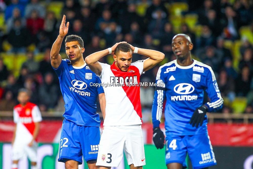 Layvin KURZAWA / Lindsay ROSE / Mouhamadou DABO  - 01.02.2015 - Monaco / Lyon - 23eme journee de Ligue 1 -<br /> Photo : Serge Haouzi / Icon Sport