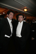 Russell Elliot and Matthew Hall, The Royal Caledonian Ball 2007. Grosvenor House. 4 May 2007.  -DO NOT ARCHIVE-© Copyright Photograph by Dafydd Jones. 248 Clapham Rd. London SW9 0PZ. Tel 0207 820 0771. www.dafjones.com.