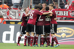 11.09.2011,  Rhein Energie Stadion, Koeln, GER, 1.FBL, 1. FC Koeln vs 1. FC Nürnberg, im Bild.Torjubel / Jubel  nach dem 0:2 durch Timmy Simons (Nuernberg #2) ..// during the 1.FBL, 1. FC Koeln vs 1. FC Nürnberg on 2011/09/11, Rhein-Energie Stadion, Köln, Germany. EXPA Pictures © 2011, PhotoCredit: EXPA/ nph/  Mueller *** Local Caption ***       ****** out of GER / CRO  / BEL ******