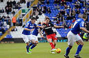 Simon Cox attacks during the Sky Bet Championship match between Birmingham City and Reading at St Andrews, Birmingham, England on 13 December 2014.