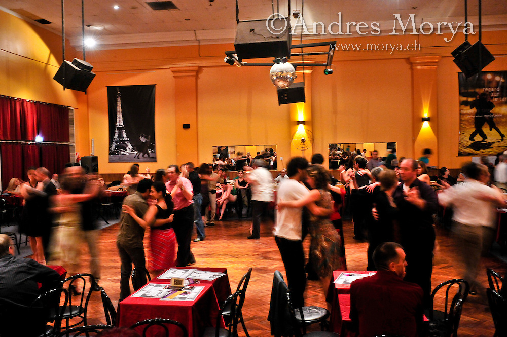 Tango Dancers in the Milonga Canning, Parakultural, Buenos Aires, Argentina Image by Andres Morya