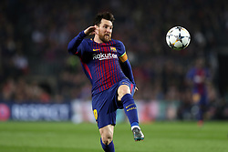 March 14, 2018 - Barcelona, Spain - LIONEL MESSI of FC Barcelona during the UEFA Champions League, round of 16, 2nd leg football match between FC Barcelona and Chelsea FC on March 14, 2018 at Camp Nou stadium in Barcelona, Spain (Credit Image: © Manuel Blondeau via ZUMA Wire)