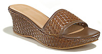 stuart weitzman leather wicker sandal