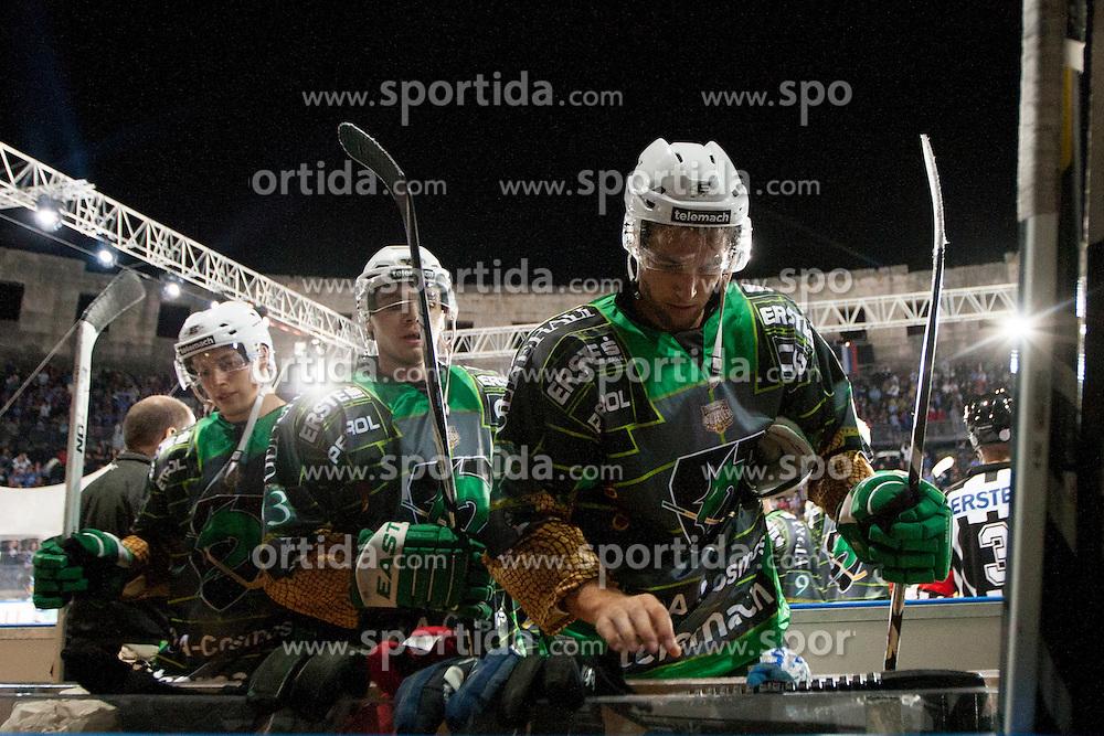 14.09.2012. Pula Arena, Pula, CRO, EBEL, KHL Medvescak Zagreb vs HDD Telemach Olimpija Ljubljana, 03. Runde, in picture Scott Freeman (HDD Telemach Olimpija, #9) during the Erste Bank Icehockey League 3rd Round match between KHL Medvescak Zagreb and HDD Telemach Olimpija Ljubljana at the Pula Arena, Pula, Croatia on 2012/09/14. (Photo By Urban Urbanc / Sportida)