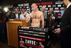 Dejan Zavec during official weighing of boxers Dejan Zavec alias Jan Zaveck of Slovenia and Sasha Yengoyan of Belgium, on April 10, 2015 in Hotel Primus, Ptuj, Slovenia. Photo by Crtomir Goznik / Sportida