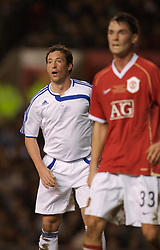 Manchester, England - Tuesday, March 13, 2007: Europe XI's Robbie 'God' Fowler in action against Manchester United during the UEFA Celebration Match at Old Trafford. (Pic by David Rawcliffe/Propaganda)