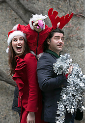 Repo Free: 27 November 2013<br /> Fair City actress Aoibheann McCaul and Singer Brian Kennedy wrapped up as Dustn the Turkey tries to get back on the Christmas airwaves at launch of Christmas FM, returning tomorrow 28th November to sprinkle lots of festive cheer and seasonal goodwill across Ireland in the run up to Christmas. From now until the 26th of December tune in to hear a host of very familiar radio voices who will be volunteering their time to bring you round-the-clock Christmas tunes and festive updates. This year, Christmas FM will be raising awareness and funds for Aware, the national organisation providing support, information and education services around depression to individuals, families and communities throughout Ireland. With every text sent, &euro;2 is donated to Aware, so get listening and get texting. <br /> Log onto www.christmasfm.com to listen live or to find your local frequency in your area. Pic Andres Poveda<br /> <br /> Follow the station on Facebook at www.facebook.com/christmasfm <br /> <br /> <br /> For further information, please contact:<br /> Breda Brown / Ailbhe Byrne<br /> Unique Media<br /> Tel: 01 522 5200 or 087 2487120 (BB)<br /> <br /> Dustin the Turkey calls &lsquo;fowl play&rsquo; as
