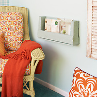 Guest bedroom makeover, reading rack