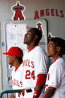 May 5, 2007: #24 Gary Matthews Jr. and teammates in the dugout as the Chicago White Sox played the Los Angeles Angels of Anaheim at Anaheim Stadium in Anaheim, CA.