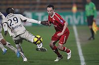 FOOTBALL - FRENCH CHAMPIONSHIP 2010/2011 - L1 - VALENCIENNES FC v GIRONDINS DE BORDEAUX - 19/03/2011 - PHOTO ERIC BRETAGNON / DPPI - GAEL DANIC (VA) / LUDOVIC SANE (BOR)