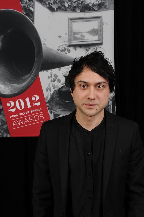Kody Neilson, finalist of the APRA Silver Scrolls Awards 2012. Auckland Town Hall. 13 September 2012.